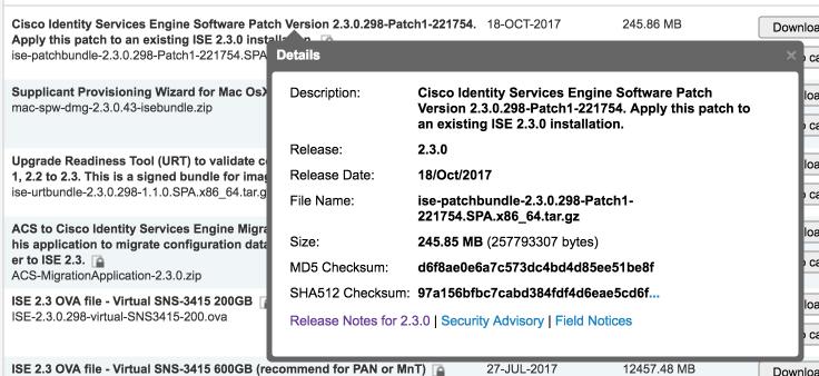 Always verify the checksum value – Cisco ISE Tips, Tricks