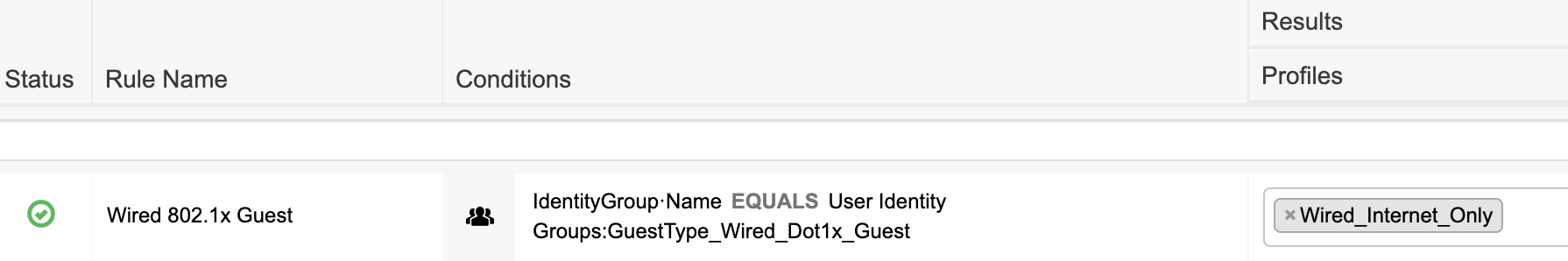Wired 802.1x guest user authorization
