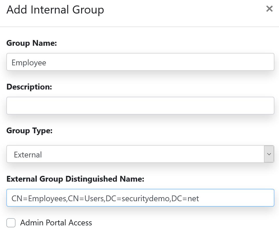iPSK internal group creation